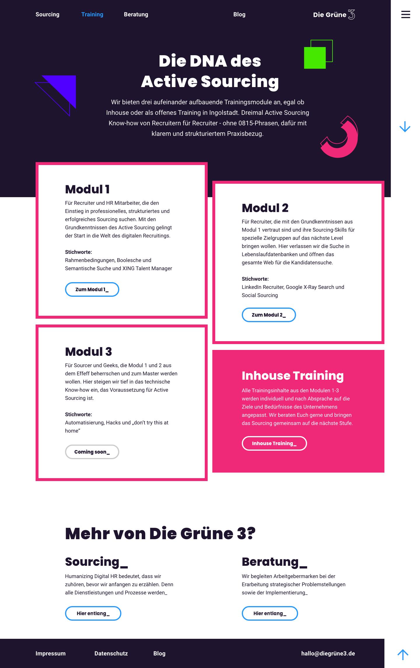 peers_DieGruene3_Trainingsuebersicht_Desktop